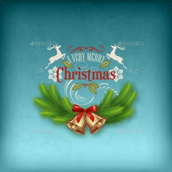 Vintage Vector Christmas Card - Christmas Seasons/Holidays