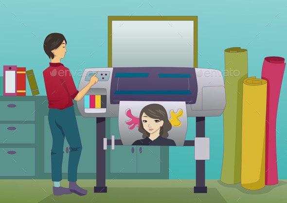 Printer Operator - Characters Vectors