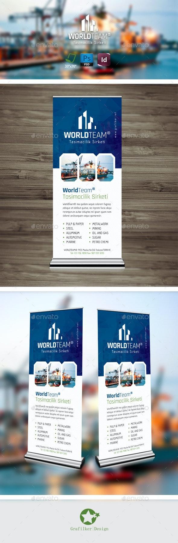 International Roll-Up Templates - Signage Print Templates