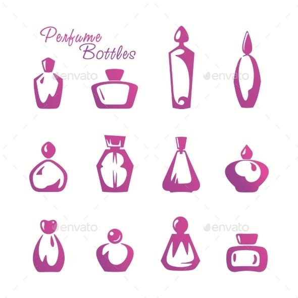 Bottle of Perfume - Objects Vectors
