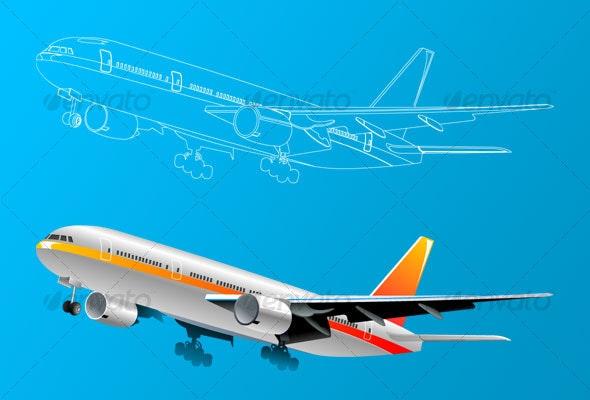 Plane - Decorative Vectors