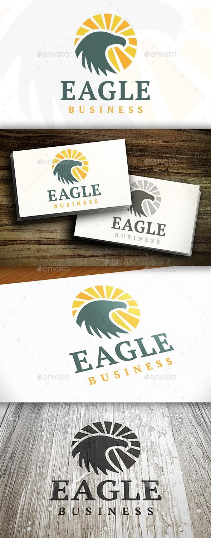 Eagle Rising Logo - Nature Logo Templates