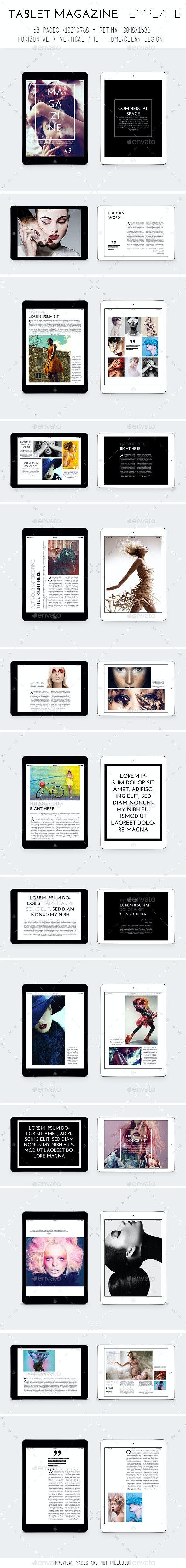 iPad & Tablet Magazine Template - Digital Magazines ePublishing