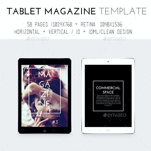 iPad & Tablet Magazine Template