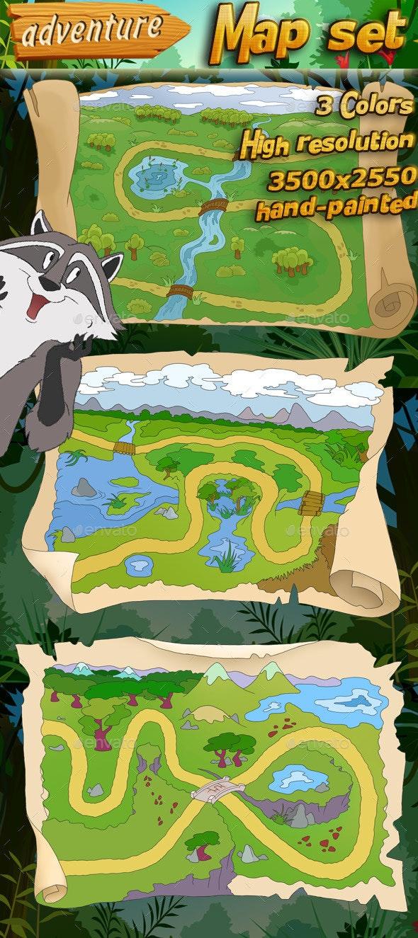 Map Set - Backgrounds Game Assets