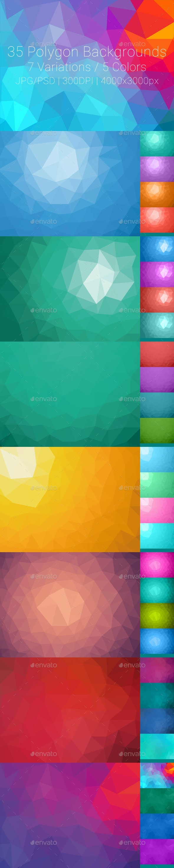 35 Polygon Backgrounds - Abstract Backgrounds