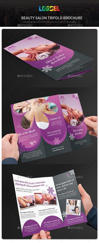 Beauty Salon Trifold Brochure V34 - Corporate Brochures