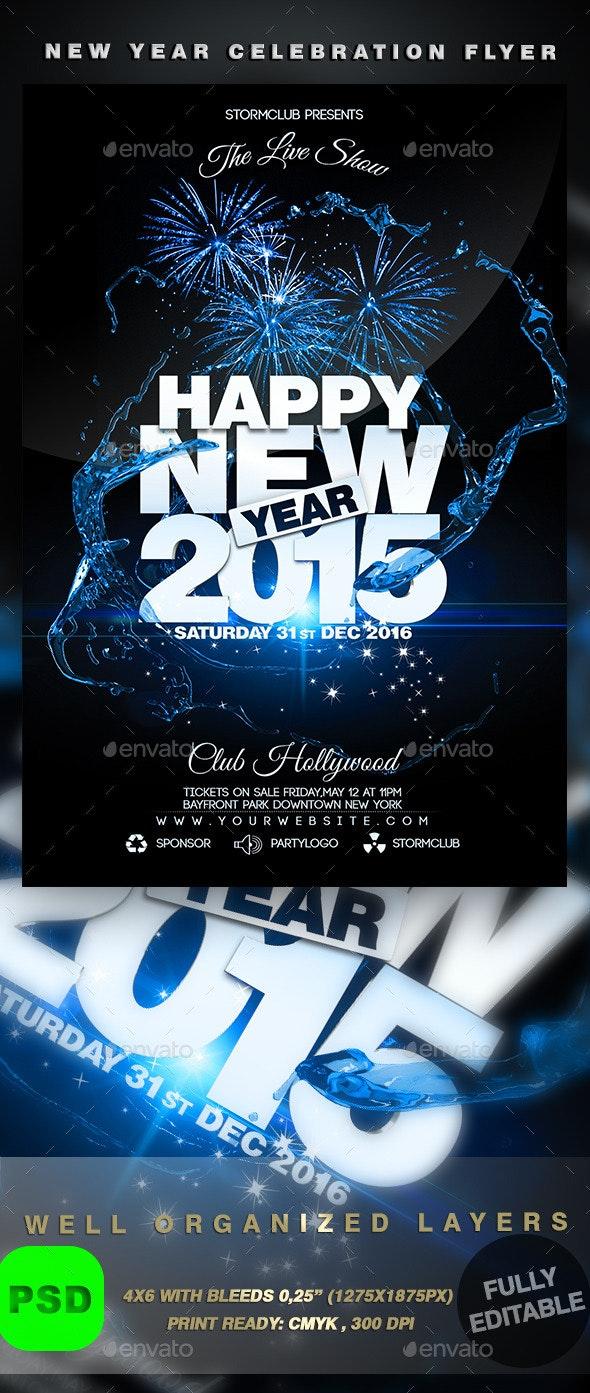 New Year Celebration Flyer - Events Flyers