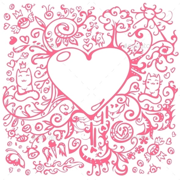 Background with Heart - Valentines Seasons/Holidays
