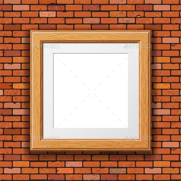 Wooden Frame - Backgrounds Decorative