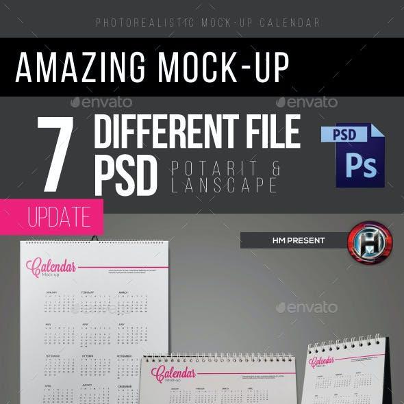 Mock-Ups Wall and Desk Calendar