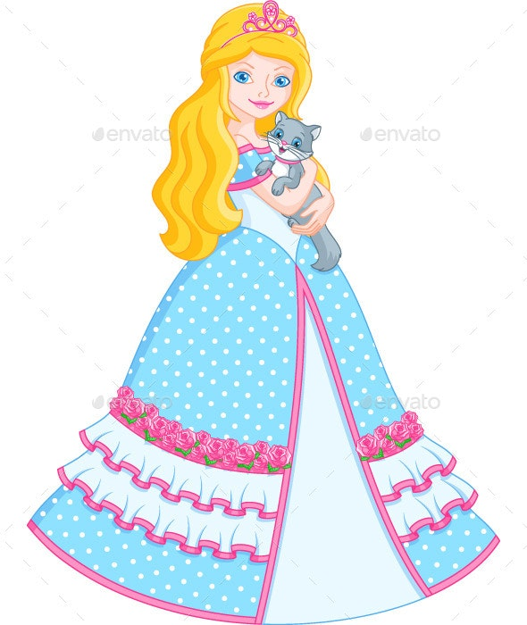 Princess with Cat - People Characters
