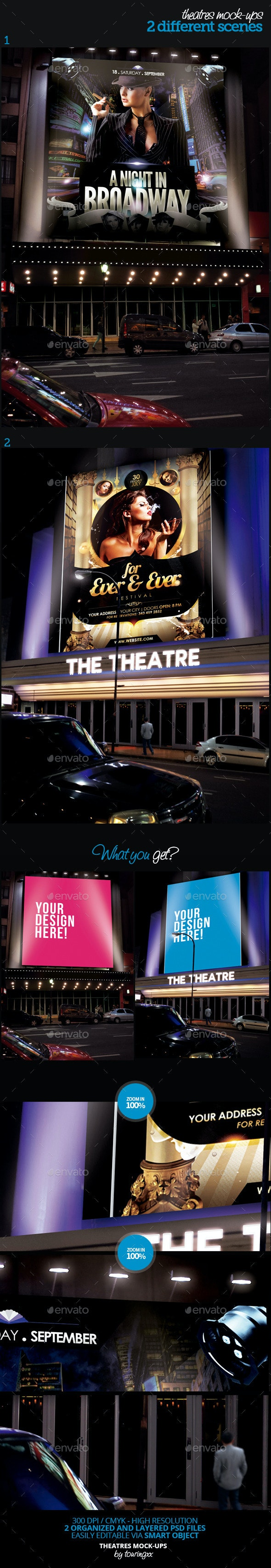 Theatres Mock-Ups Template Pack - Product Mock-Ups Graphics