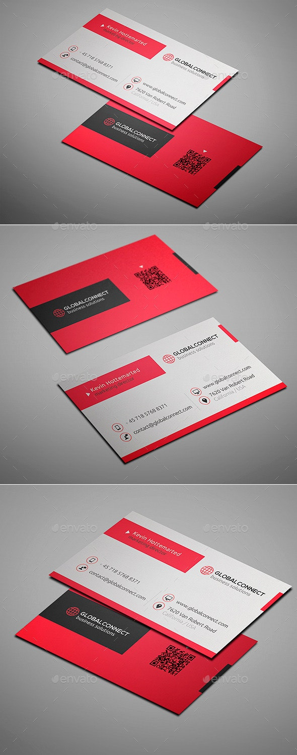 Clean Professional Business Card - Creative Business Cards