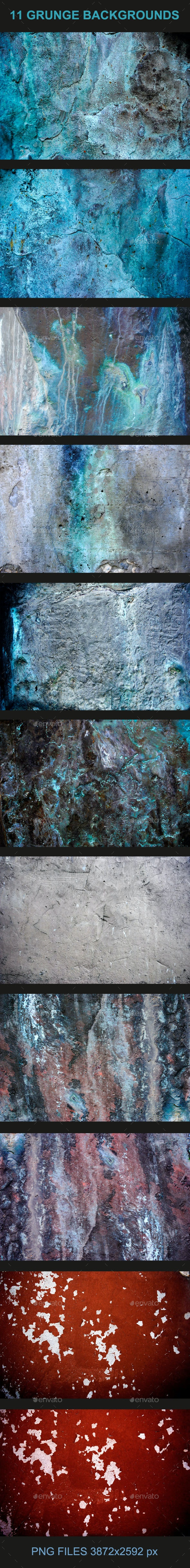 11 Grunge Backgrounds - Backgrounds Graphics