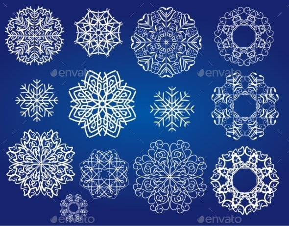 Snowflakes Set - Christmas Seasons/Holidays
