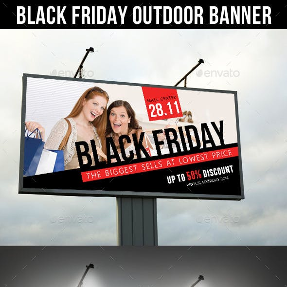 Black Friday Sale Outdoor Banner V02