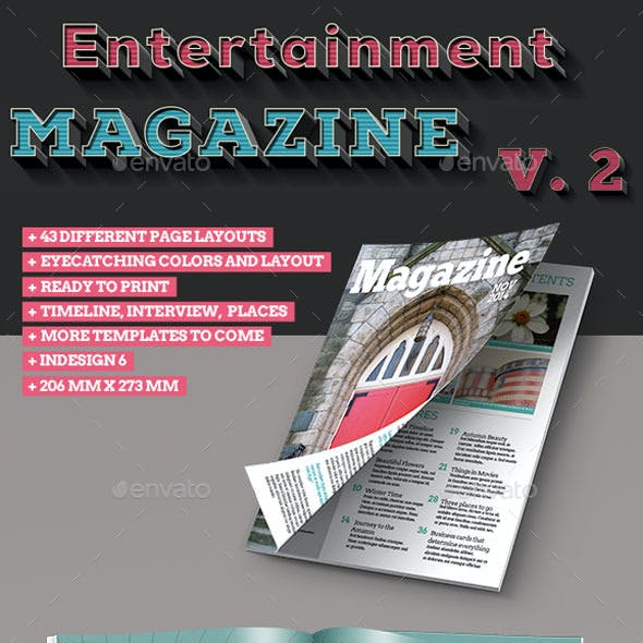40 Page InDesign Magazine Template Vol. 2