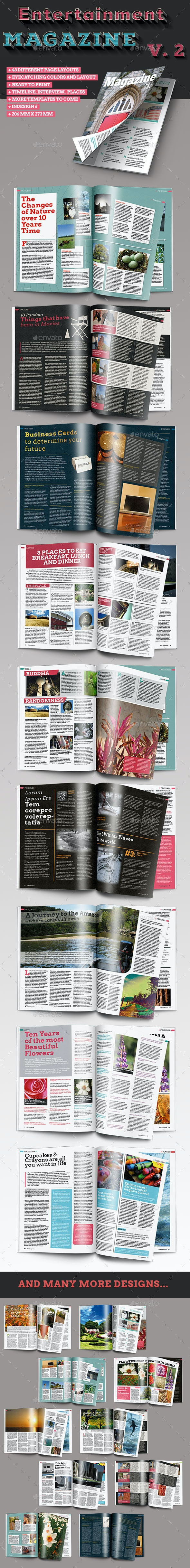 40 Page InDesign Magazine Template Vol. 2 - Magazines Print Templates