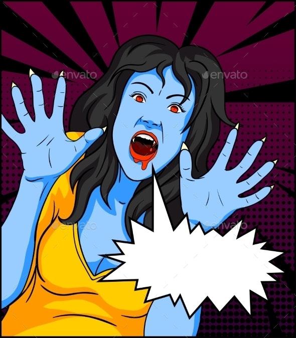 Vintage Vampire Comic - Monsters Characters