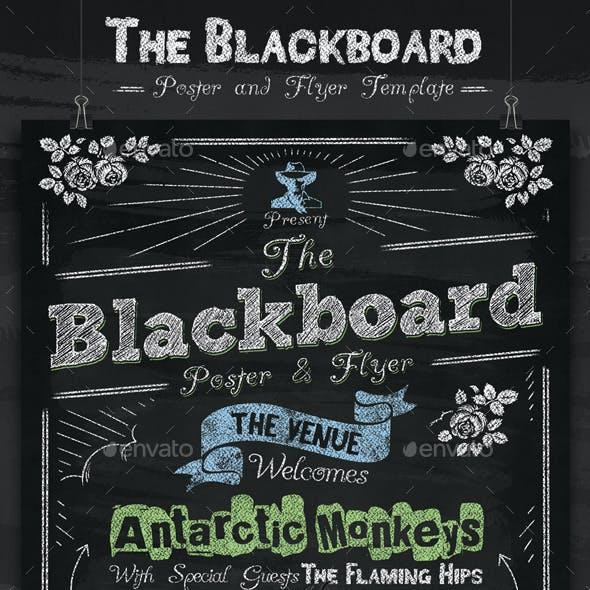 The Blackboard Poster and Flyer Template