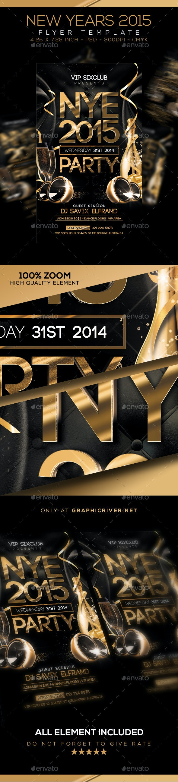 New Years Flyer - Clubs & Parties Events