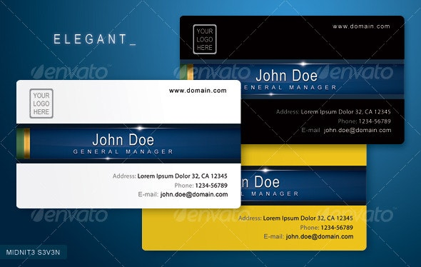 Clean Elegant Business Card - Creative Business Cards
