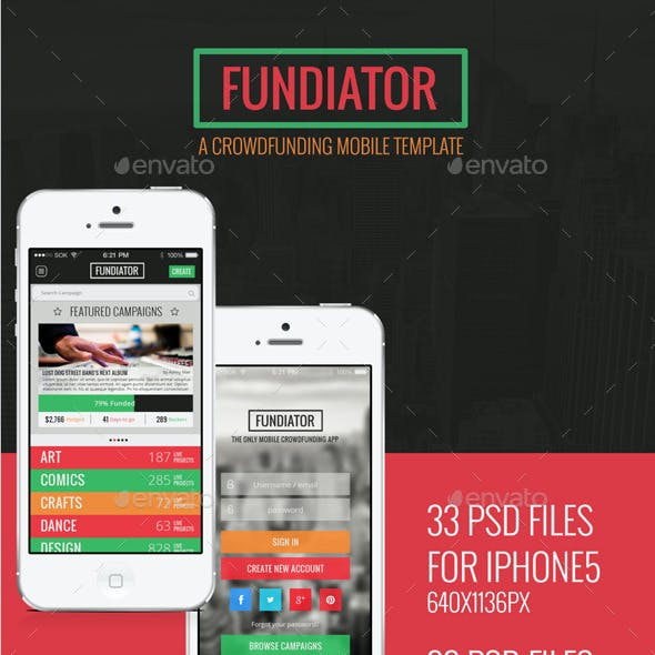 Fundiator App UI Kit