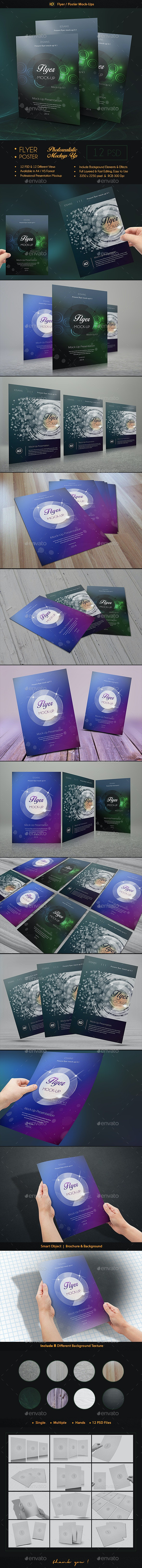 ID Flyer Mock-Up - Print Product Mock-Ups