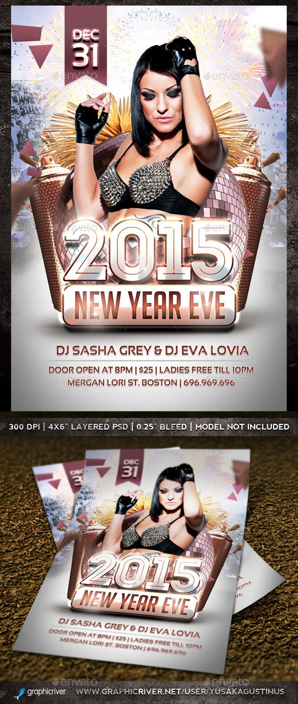 New Year Eve Party Flyer - Clubs & Parties Events