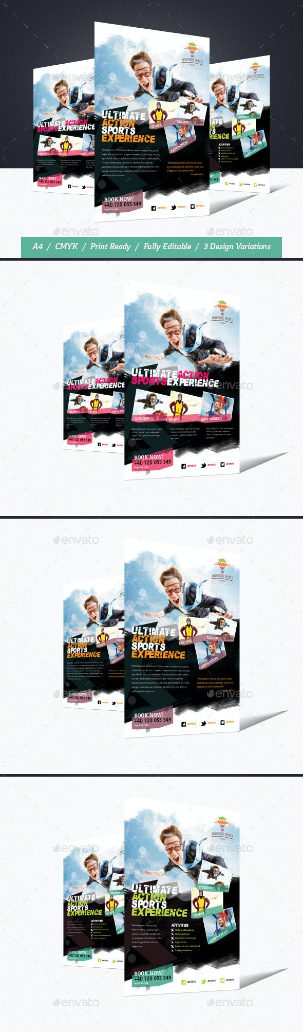 Skydive & Paragliding Flyer - Corporate Flyers