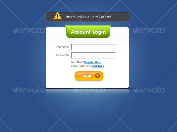 Ultimate Web 2.0 Login Forms - Forms Web Elements