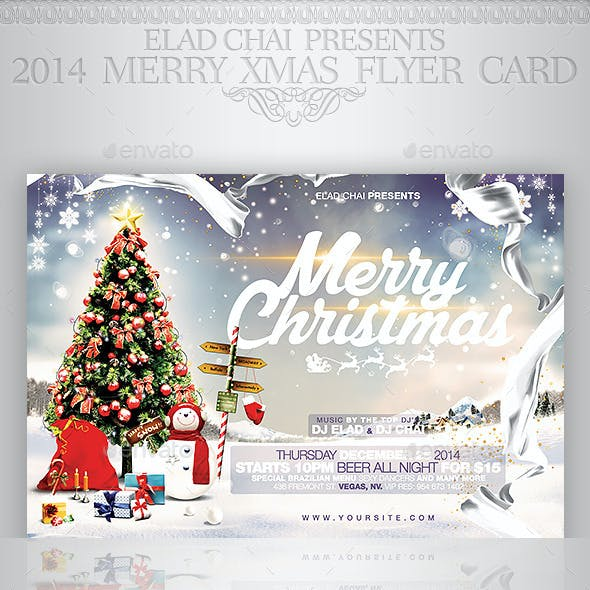 2015 Christmas Flyer Card Template