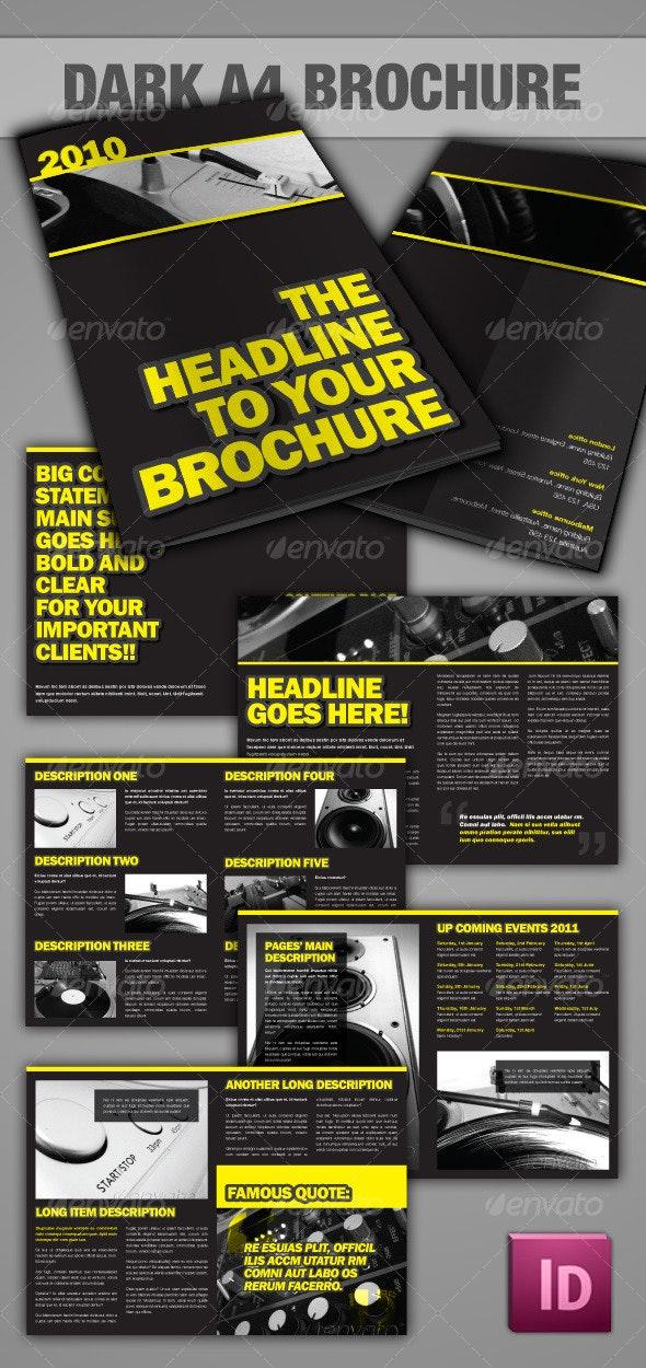Dark A4 Brochure - InDesign - Corporate Brochures