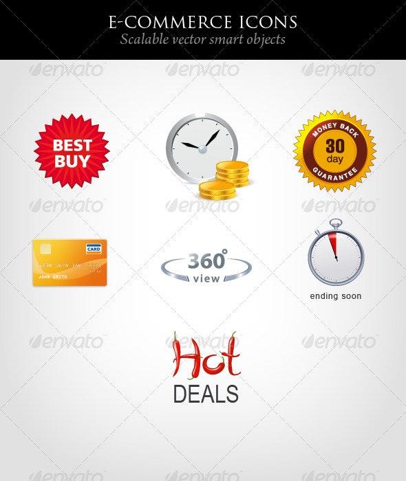 E-commerce Icons - Web Icons