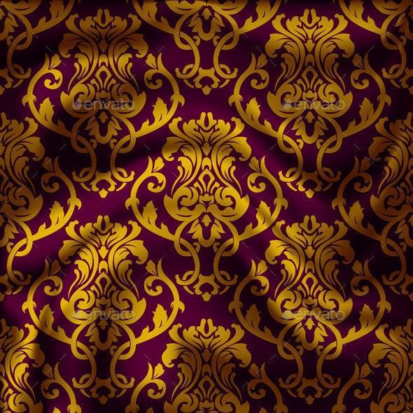Drapery Damask Textile Background - Patterns Decorative
