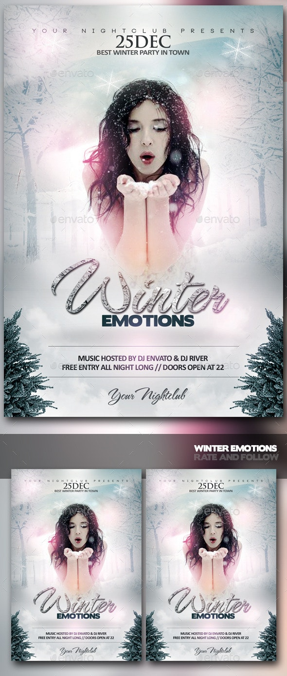 Winter Emotions - Events Flyers