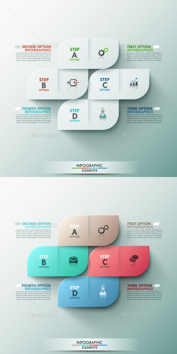 Modern Infographic Options Template (2 Colors) - Infographics
