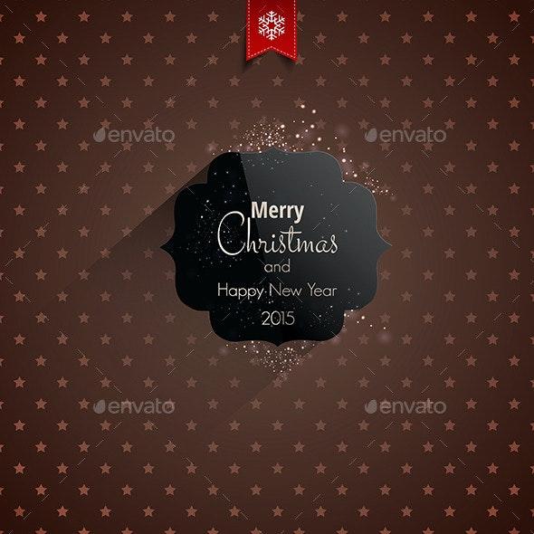 Christmas Greeting Card - Holidays Lettering - Christmas Seasons/Holidays
