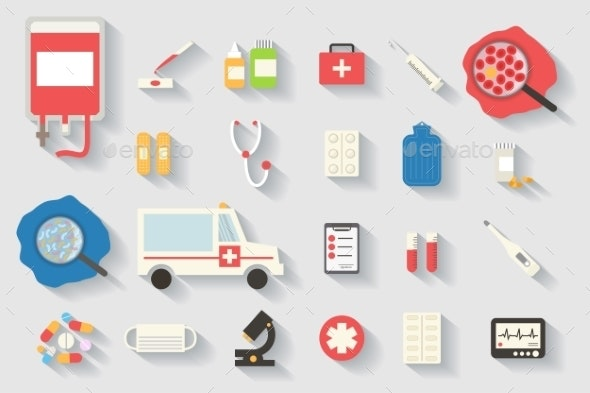 Medical Vector Icons Set - Health/Medicine Conceptual