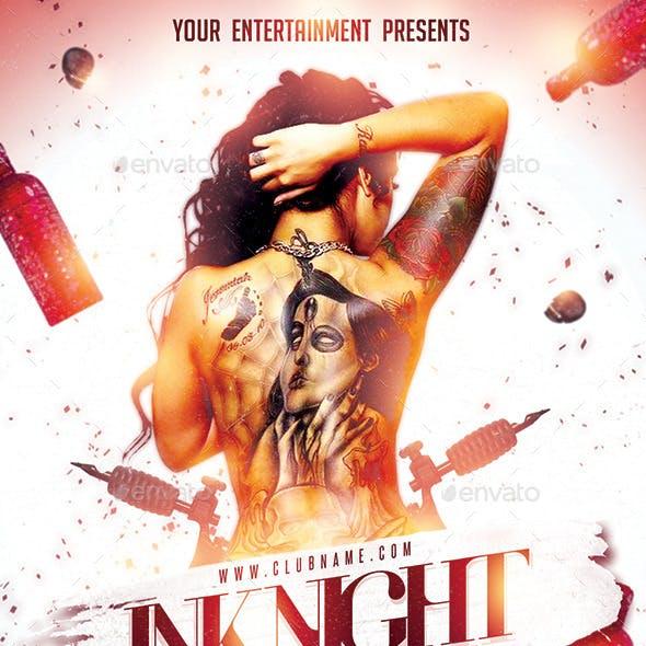 Ink Tattoo Night PSD Flyer Template