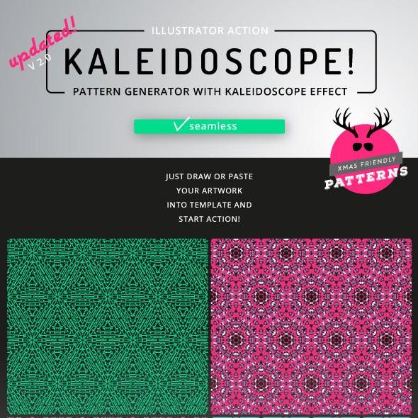 Kaleidoscope - Illustrator Action