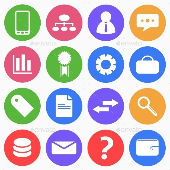Business and Finance Flat Icons (2) - Business Icons