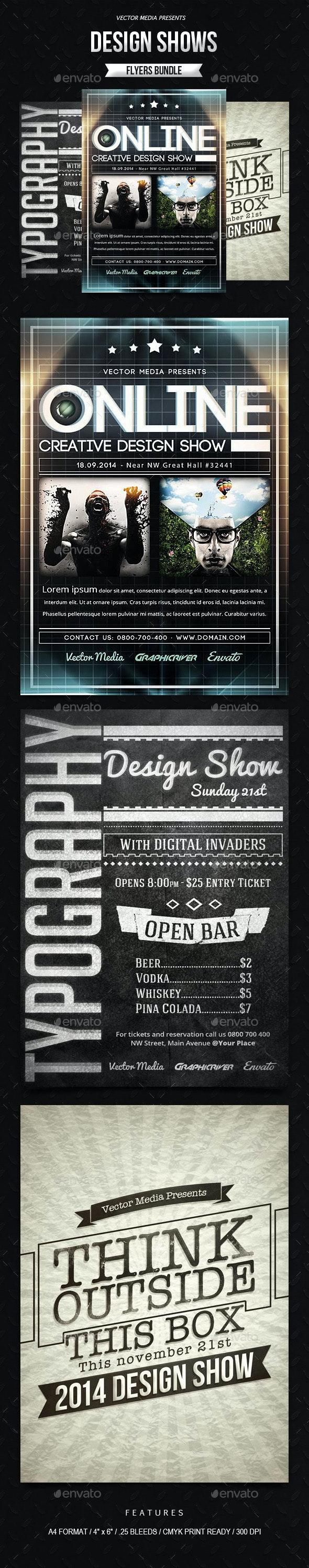 Design Shows - Flyers Bundle - Miscellaneous Events