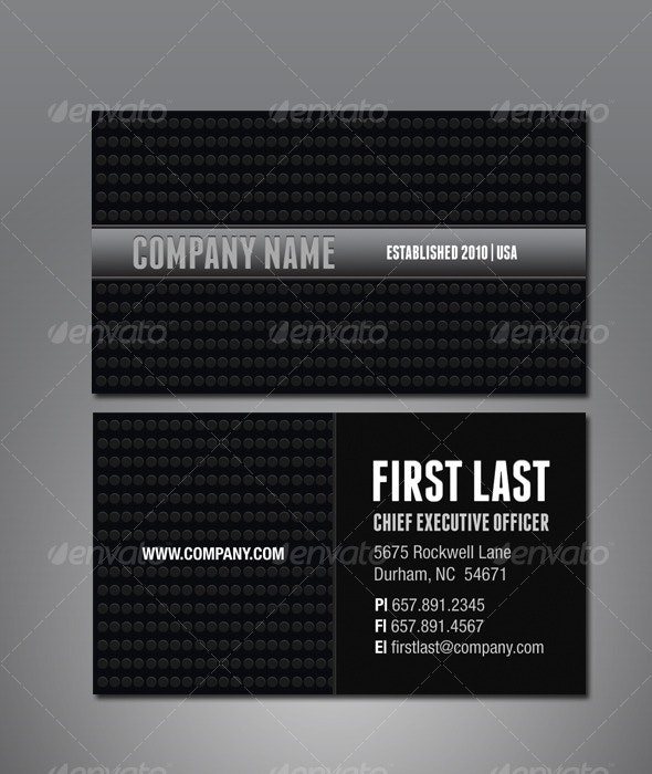 Gunmetal Business Card - Creative Business Cards