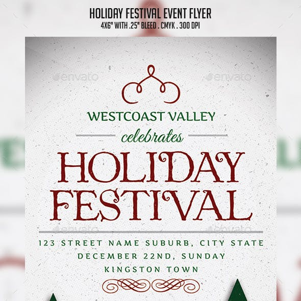 Holiday Festival Event Flyer