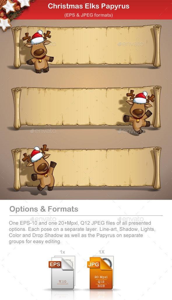 Christmas Elks Papyrus - Christmas Seasons/Holidays