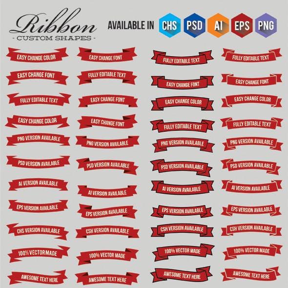 Ribbon Custom Shapes