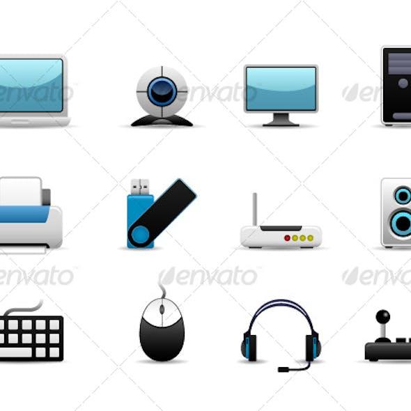 Computer Set Icon Vector