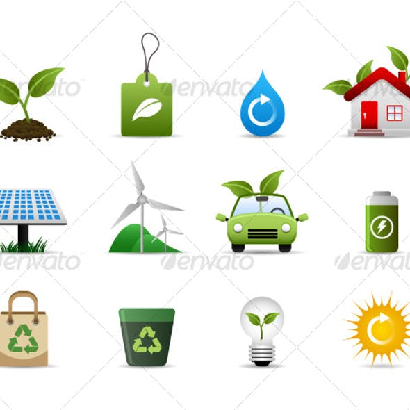 Green Environment Icon Vector
